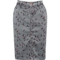 Weird Fish Talpa Printed Woven Skirt Slate Size 18