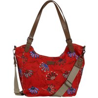 Weird Fish Hollington Printed Canvas Shoulder Bag Burnt Orange Size ONE