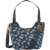 Weird Fish Hollington Printed Canvas Shoulder Bag Navy Size ONE