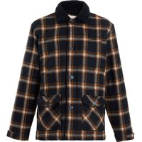 Weird Fish Breckan Check Flannel Coat Navy Size M