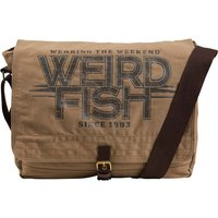 Weird Fish Contrail Waxed Messenger Bag Bark Size ONE