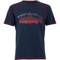 Weird Fish Alastor Printed Bamboo T-Shirt Dark Navy Size 5XL