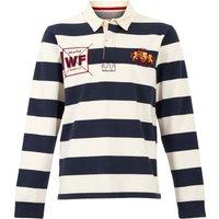 Weird Fish Leigh Organic Long Sleeve Striped Rugby Shirt Navy Size M