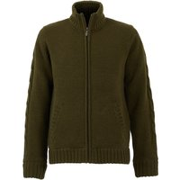Weird Fish Bunratty Full Zip Lined Jumper Olive Night Size S