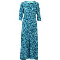 Weird Fish Ramona Jersey Maxi Dress Storm Blue Size 20