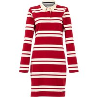 Weird Fish Ava Organic Cotton Stripe Rugby Dress Chilli Red Size 22