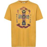 Weird Fish Fins N Roaches Front Print Artist T-Shirt Deep Amber Size L