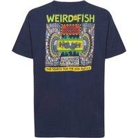 Weird Fish Haddock Collider Back Print Artist T-Shirt Dark Navy Size 4XL