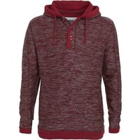 Weird Fish Olt Button Neck Macaroni Hoody  Pinot Red Size L