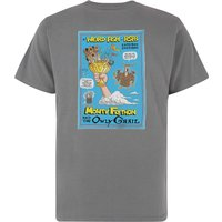 Weird Fish Monty Flython Organic Cotton RSPB Artist T-Shirt Frost Grey Size L