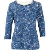 Weird Fish Pinto Organic Cotton Printed Jersey T-Shirt Ensign Blue Size 16