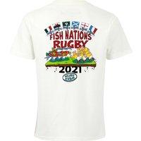 Weird Fish Fish Nations 2021 Organic Cotton Artist T-Shirt Marshmallow Size 2XL