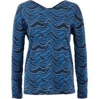 Weird Fish Hestia Bamboo Long Sleeve Printed T-Shirt Ensign Blue Size 12