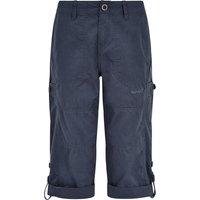 Weird Fish Salena Organic Cotton 3/4 Length Trousers Navy Size 10