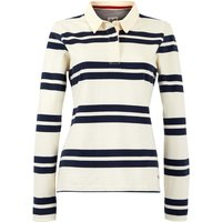 Weird Fish Ellinor Organic Cotton Stripe Rugby Shirt  Light Cream Size 8