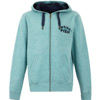 Weird Fish Stans Branded Snow Marl Full Zip Hoodie Ivy Size M