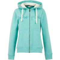 Weird Fish Tani Branded Snow Marl Full Zip Hoodie Light Teal Size 18