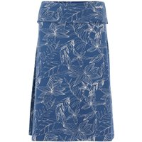 Weird Fish Malmo Organic Cotton Printed Jersey Skirt Ensign Blue Size 18