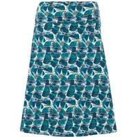 Weird Fish Malmo Organic Cotton Printed Jersey Skirt Bottle Green Size 12