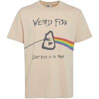 Weird Fish Carp Side Front Print Artist T-Shirt Oyster Size XL