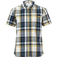 Weird Fish Ennis Short Sleeve Check Shirt Navy Size 2XL