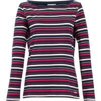 Weird Fish Cecilia Organic Cotton Stripe T-Shirt Navy Size 14