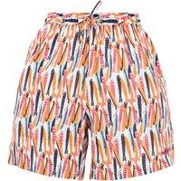 Weird Fish Sundance Printed Beach Shorts Light Cream Size 22