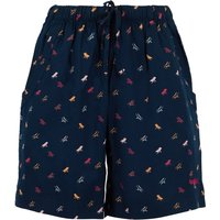 Weird Fish Sundance Printed Beach Shorts Navy Size 12
