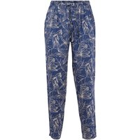 Weird Fish Tinto Printed Viscose Trousers Ensign Blue Size 14
