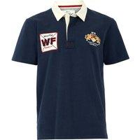 Weird Fish Farrell Organic Cotton Rugby Shirt Navy Size S