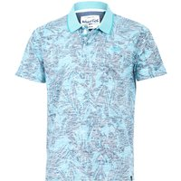 Weird Fish Finley Organic Cotton Printed Polo Turquoise Size S