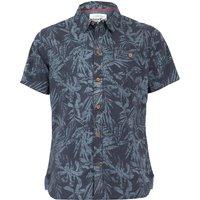 Weird Fish Thomkins Organic Cotton Hawaiian Print Shirt Navy Size S