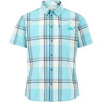 Weird Fish Barak Short Sleeve Check Shirt Turquoise Size 2XL