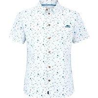 Weird Fish Gillespie Organic Cotton Printed Shirt White Size XL