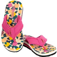 Weird Fish Salcombe Printed Flip Flop Apricot Size 6
