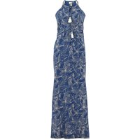 Weird Fish Parma Organic Cheesecloth Printed Maxi Dress Ensign Blue Size 18