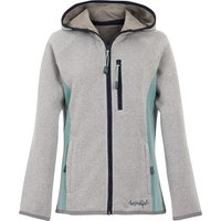 Weird Fish Sidonie Colour Block Soft Knit Hoodie Frost Grey Size 10