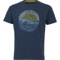 Weird Fish Ocean Eco Cotton Graphic T-Shirt Navy Size XL