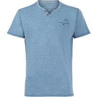 Weird Fish Barrett Short Sleeve Henley T-Shirt Blue Mirage Size 5XL