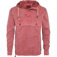 Weird Fish Para Overhead Cotton Cagoule Jacket Chilli Red Size M