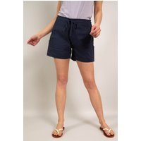 Weird Fish Willoughby Organic Cotton Shorts Navy Size 20