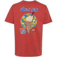 Weird Fish Ice Bream Cone Artist T-Shirt Cranberry Size L