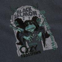 Weird Fish Black Salmon Artist T-Shirt Charcoal Size M
