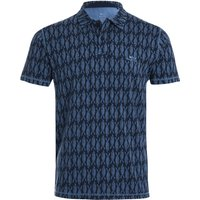 Weird Fish Janus Printed Bamboo Polo Navy Size L
