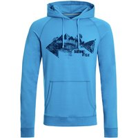 Weird Fish Ares Bamboo Popover Graphic Hoodie Pagoda Blue Size 5XL