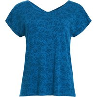 Weird Fish Kiana Bamboo Printed T-Shirt Blue Sapphire Size 18