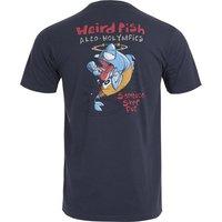 Weird Fish Sambuca Shot Organic Cotton Artist T-Shirt Navy Size M