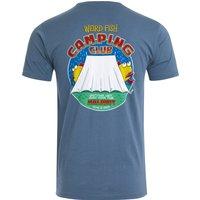 Weird Fish Weird Camping Organic Cotton Artist T-Shirt Blue Mirage Size 3XL