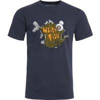 Weird Fish Deep Sea Organic Cotton Artist T-Shirt Navy Size 5XL