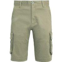 Weird Fish Rigney Organic Cotton Cargo Shorts Stone Size 36